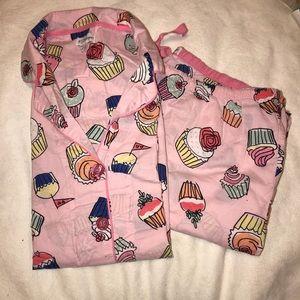 Pajama Salvage Cupcake PJ Set